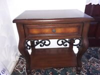Mahogany telephone table