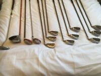 Full set clubs including bag and accessories. Big bertha irons. Taylor Made 3&5 . Slazenger driver