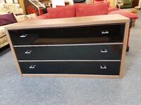 Excellent condition walnut veneered chest of drawers