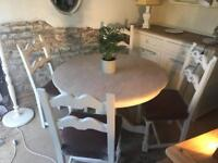 Vintage Pine round table chairs free