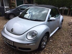 Volkswagen Beetle Cabriolet 1.4 Luna 2010 Petrol Manual. 1 lady owner, MOT until June 2018