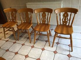 Farmhouse kitchen table with four chairs