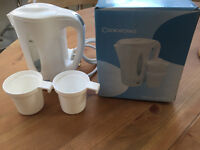 Cookworks White Travel Kettle - DUAL VOLTAGE. Very good condition