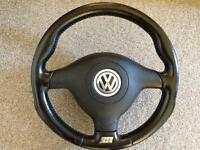 Volkswagen Golf MK4 R32 Steering Wheel Genuine OEM
