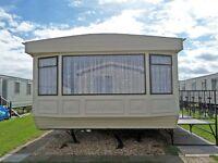 6 Berth Caravan For Hire Bell Bank, Chapel Saint Leonards. Close To Beach, Fantasy Island & Shops
