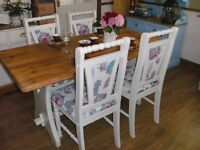 COUNTRY COTTAGE STYLE TABLE & CHAIRS- DELIVERY AVAILABLE
