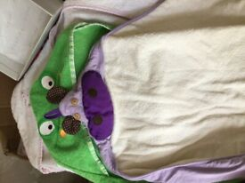 3 toddler bath towels with hoods