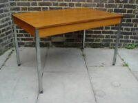FREE DELIVERY Wooden Table With Metal Legs