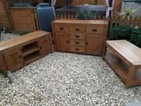 Oak furniture land set of lounge furniture