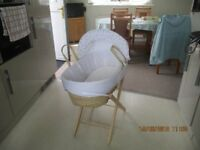 moses basket for sale good condition