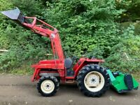 YANMAR FX265 4WD Compact Tractor with Power Loader Bucket *WATCH VIDEO * NEW 5FT FLAIL MOWER