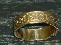 heavy keltic (celtic) 9 carat solid gold ring