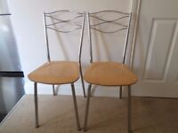 Two Stylish Kitchen/Diner Chairs