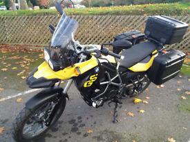 BMW F650GS adventure bike, full luggage, 700cc