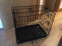 Folding dog puppy cage strong 2doors