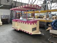 Ice cream trailer with display scoop one-of-a-kind