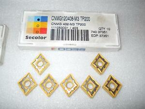 SECO – COATED CARBIDE INSERTS (CNMG 432) - new - lathe, milling