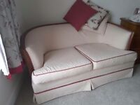 2 seater small settee recovered going cheap as need the room buyer collects