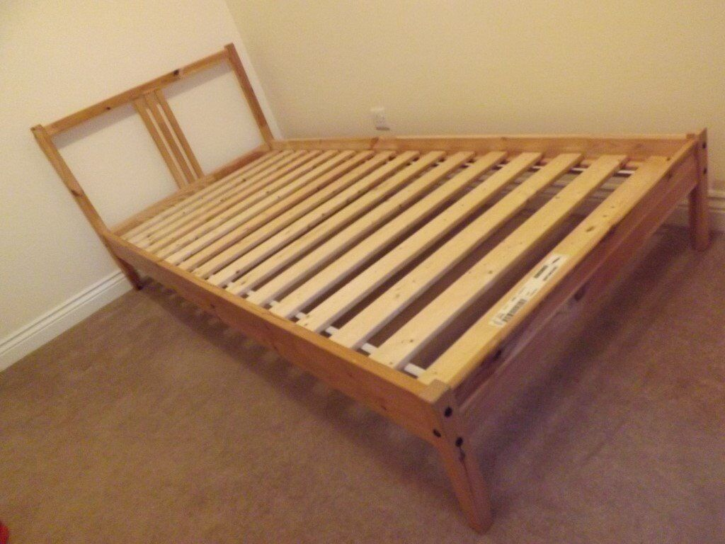 "1 x ikea ""fjellse"" kids pine single bed frame and 1 x mattress for"