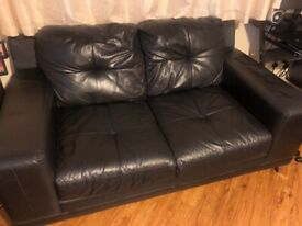Black 2 seater dfs sofa
