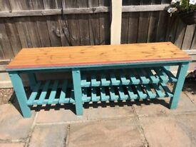 Handmade Wooden Bench / Storage Unit