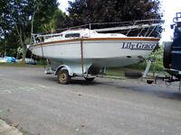 Sailing Boat/Trailer Sailor 18' Bilge Keel