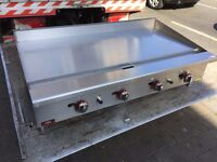 QUALITY NEW GAS 120 CM FLAT GRILL CATERING COMMERCIAL CAFE KEBAB CHICKEN RESTAURANT TAKE AWAY SHOP