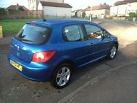 Peugeot 307 Xsi. 1year MOT. Minted inside & out. U