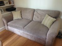 Large 3 seater sofa with cushions