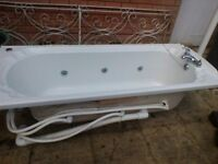 Jacuzzi bath, white, full length, not fitted ,buyer collects ,