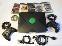 Xbox Original bundle, 2 controllers, 6 games, complete with leads. Working, & good condition £55 ono