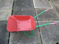 Childrens Rolly Toy Wheelbarrow.