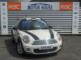 MINI Hatch ONE (FULL SERVICE HISTORY) FREE MOT'S AS LONG AS YOU OWN THE CAR!!! (white) 2011