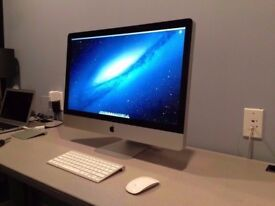 """Apple iMac 27"""" QUAD CORE Core i7 2.8GHz 8GB 1TB El Capitan A1312"""