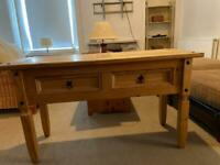 SIDEBOARD AND MATCHING END TABLE