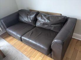 Leather Sofa - 3 seats