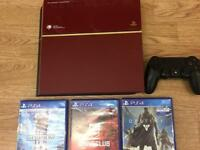 Sony PS4 Red 1TB with 3 games