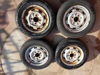 Mini mayfair 12 inch classic wheels and tyres or trailer