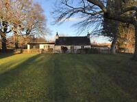 Cottage with 3.6 acre arable land.