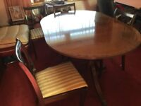 Dining room table with five chairs