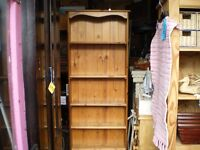 SOLID PINE TALL SLIM BOOKCASE