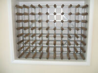 Classic 70 bottle pine wood and galvanised metal wine rack