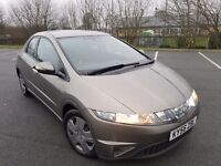 2007/56 PLATE HONDA CIVIC 1339Cc TAXED AND TESTED DRIVE AWAY