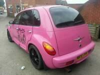 pt cruiser pink mint