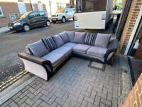 corner sofa Black and Grey Delivery available