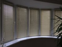 Cream venetian blinds
