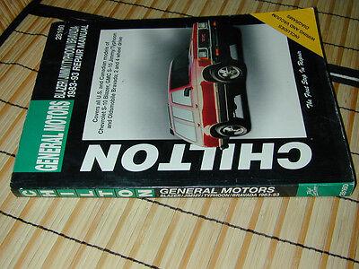 REPAIR MANUAL:Chilton GM Chevy Blazer Jimmy Typhoon Olds Bravada S-10 S-15 83-93