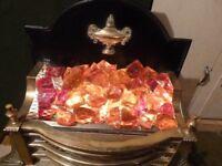 Brass Regency Fire with resin coals