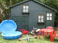 Sandpit Quad Bike Table and Chairs Etc