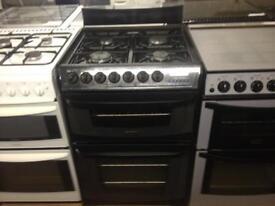 Black cannon 60cm gas cooker (fan oven)